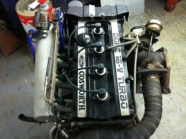 Rebuilt cosworth yb turbo engine and box for sale