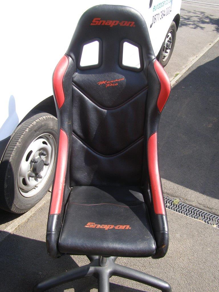 snap on cobra monaco bucket seat as office chair sold