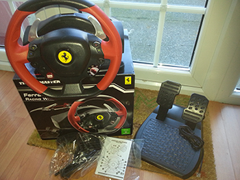 thrustmaster ferrari 458 spider racing wheel (xbox one) with pedals
